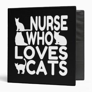 Nurse Who Loves Cats Binder