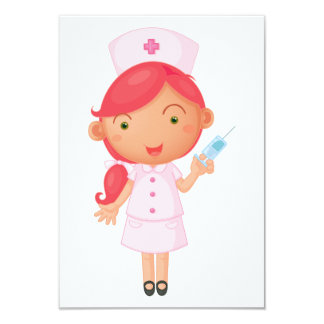 Nurse With A Needle Invitations