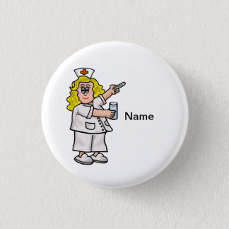 Nurse with Big Pill Customizable Button