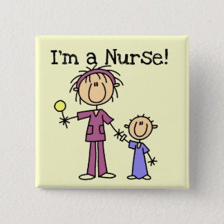Nurse With Child T-shirts and Gifts 2 Inch Square Button