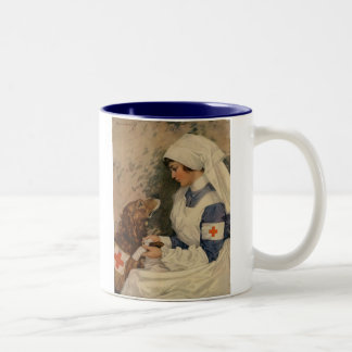 Nurse with Golden Retriever 1917 Mugs