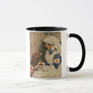 Nurse with Golden Retriever 1917 Vintage WW1 Mug