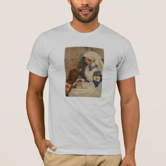 Nurse with Golden Retriever Vintage WW1 T-Shirt