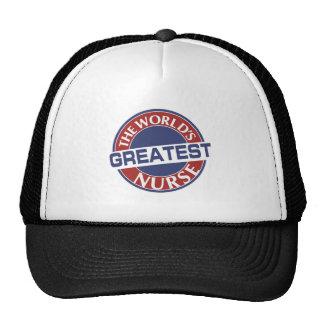 NURSE WORLDS GREATEST 40X40 TRUCKER HAT