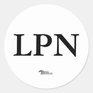 nurseguardianlogo, LPN Classic Round Sticker