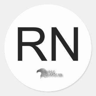 Nurseguardianlogo, RN Classic Round Sticker
