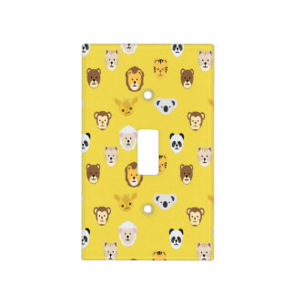 Nursery Animal Panda Koala Tiger Lion Cat Giraffe Light Switch Cover
