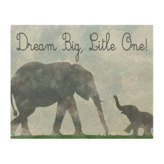 nursery art, elephant watercolor, dreamer wood prints