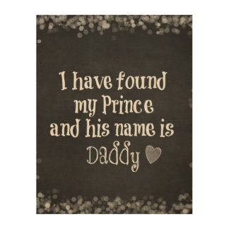 Nursery Baby Quote Daughter and Daddy Wood Canvases