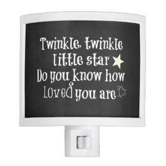 Nursery Baby Quote: Love Nite Light