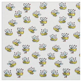 nursery cute cartoon bees pattern fabric