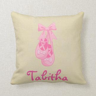 Nursery Dancer Ballet Shoes Pink Girl Pillow