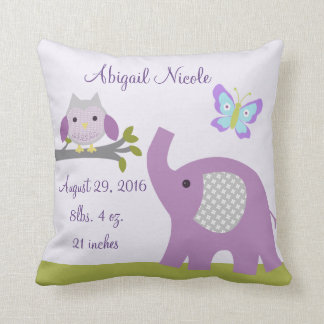Nursery Dreamland Owl/Elephant Pillow Keepsake