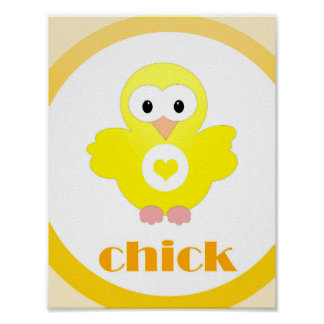 nursery farm animal chick poster