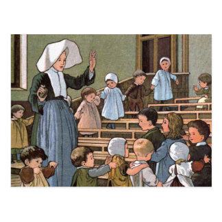 Nursery Games Vintage Illustration Postcard