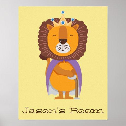 Nursery King Lion Poster