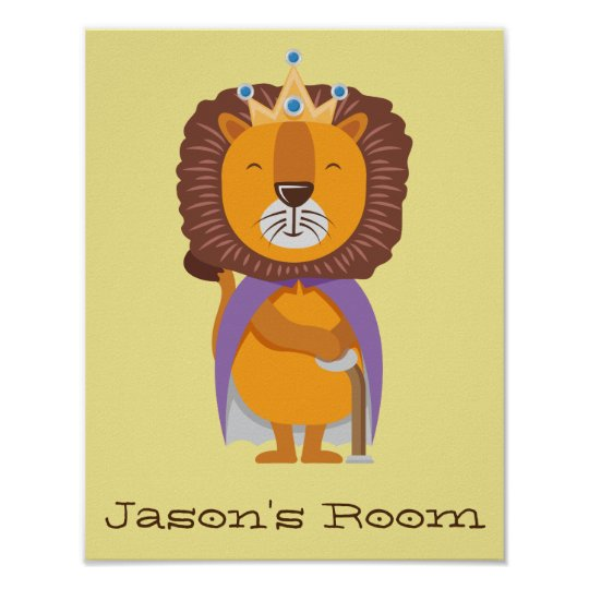 Nursery King Lion Poster