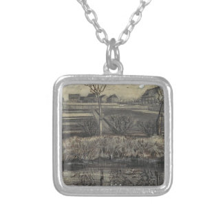 Nursery on the street silver plated necklace