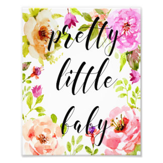 Nursery Pretty Little Baby Wall Art Print