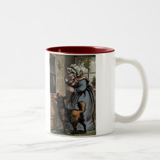 Nursery Rhymes Old Mother Hubbard Two-Tone Coffee Mug