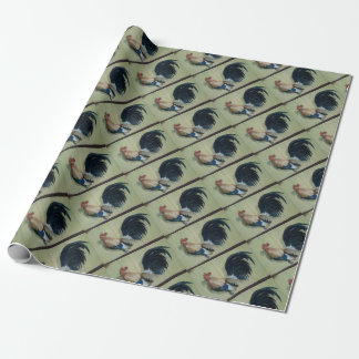 Nursery Rooster Mural Wrapping Paper