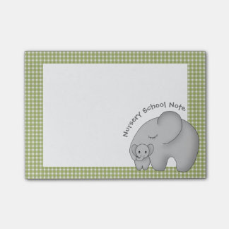 Nursery School and the Baby Elephant Personalized Post-it Notes