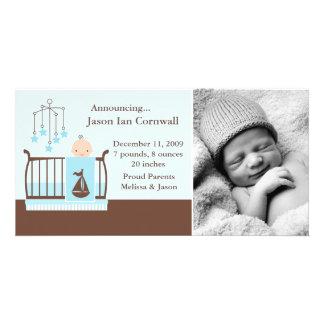 Nursery Themed Birth Announcements Customized Photo Card