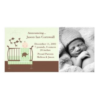 Nursery Themed Birth Announcements Custom Photo Card