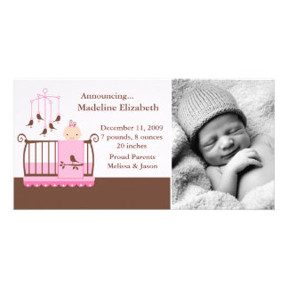Nursery Themed Birth Announcements Personalized Photo Card