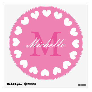Nursery wall decal sticker with elegant monogram
