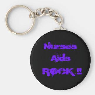 Nurses Aids Rock 2 Keychain
