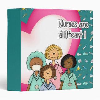 Nurses are all Heart. Gift Binder