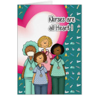 Nurses day greetings gifts on zazzle ca nurses are all heart nurses week greeting cards m4hsunfo Image collections