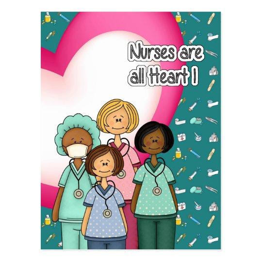 Nurses are all Heart Postcards