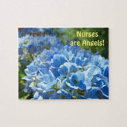Nurses are Angels! gifts Hydrangea Flower puzzle