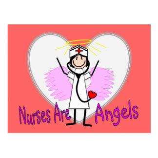 Nurses Are Angels Postcard