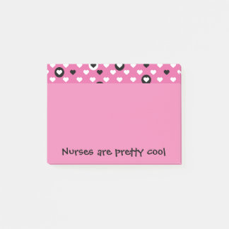 Nurses are pretty cool hearts post-it notes