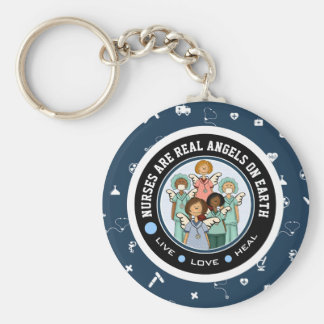 Nurses are Real Angels on Earth. Gift Keychains