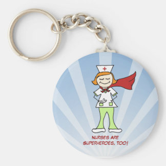 Nurses Are Superheroes Keychain