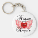 Nurses Are The Real Angels Basic Round Button Keychain