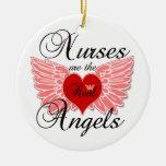 Nurses Are The Real Angles Christmas Ornaments