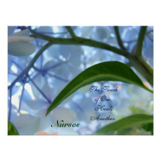 Nurses Art Prints Touch of One Heals Another