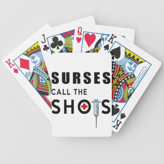 Nurses call the shots bicycle playing cards