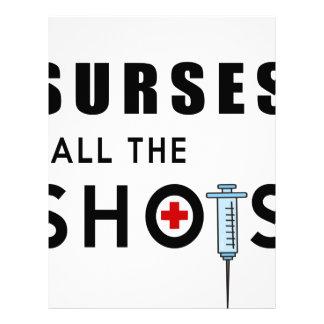 Nurses call the shots letterhead