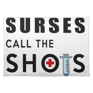 Nurses call the shots placemat