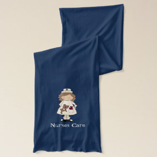 Nurses Care cartoon fun scarf