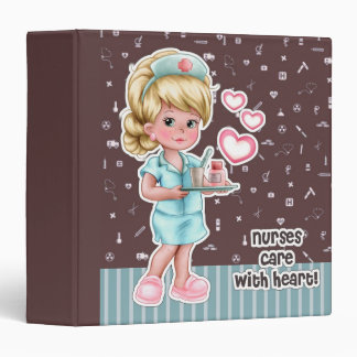 Nurses care with Heart. Gift Binders