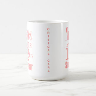 Nurses do it 12 hrs straight!-CRITICAL CARE/Pink Coffee Mug