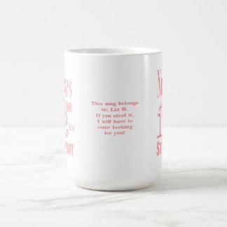 Nurses do it 12 hrs straight!-Fun Message+Name Classic White Coffee Mug