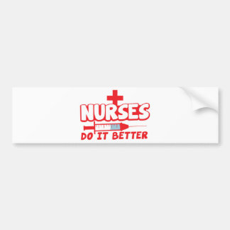 NURSES do it better! with needle and cross Bumper Sticker